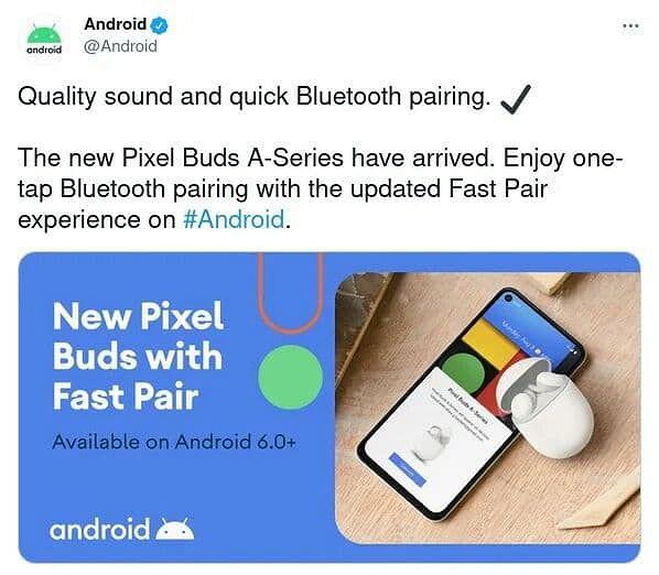 Google засветила недорогие беспроводные наушники Pixel Buds A