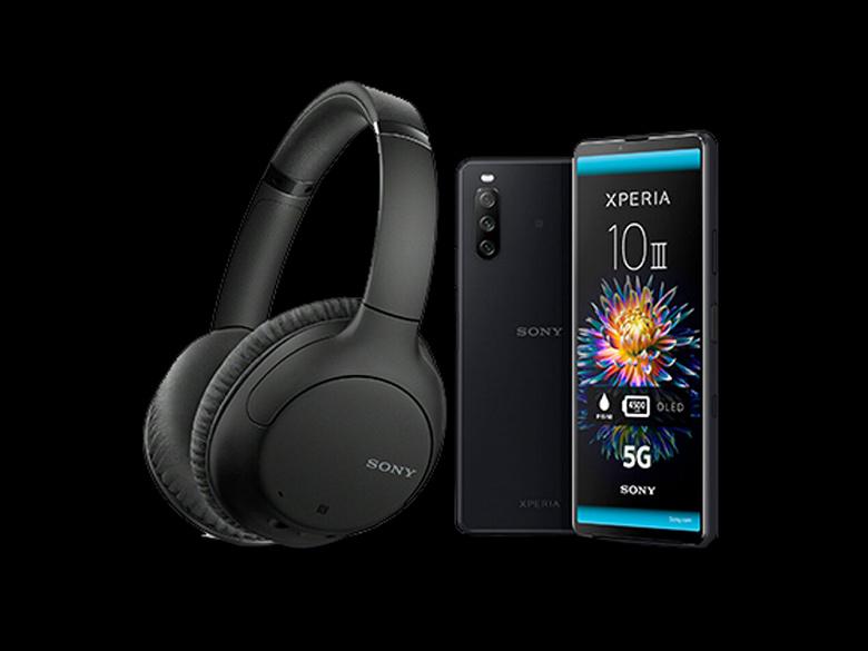 Покупатели Sony Xperia 10 III получают большие наушники с шумоподавлением в подарок