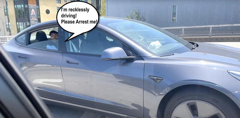 «Смертник» на заднем сиденье Tesla Model 3 пугает американских водителей