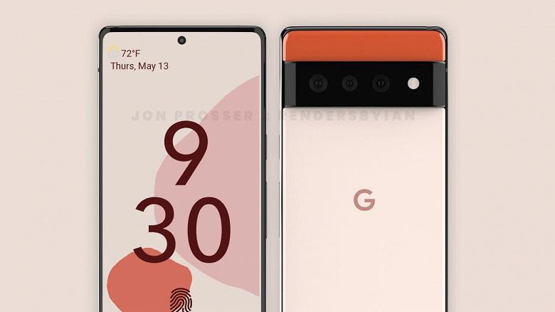 Первый флагман с Android 12 демонстрирует уникальный дизайн. Опубликованы рендеры Google Pixel 6 и Pixel 6 Pro
