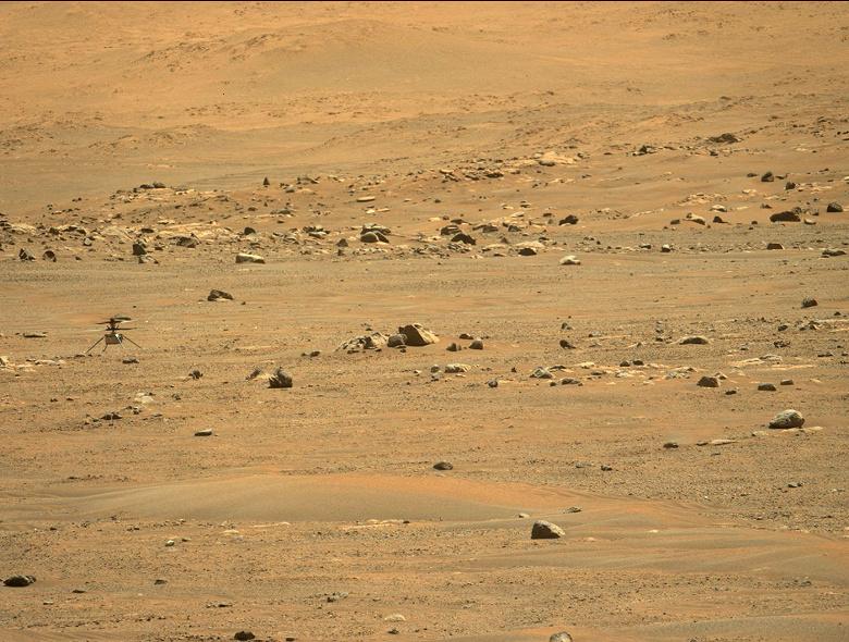 Марсианский дрон Ingenuity совершил первый полёт в один конец. Новые фото и видео
