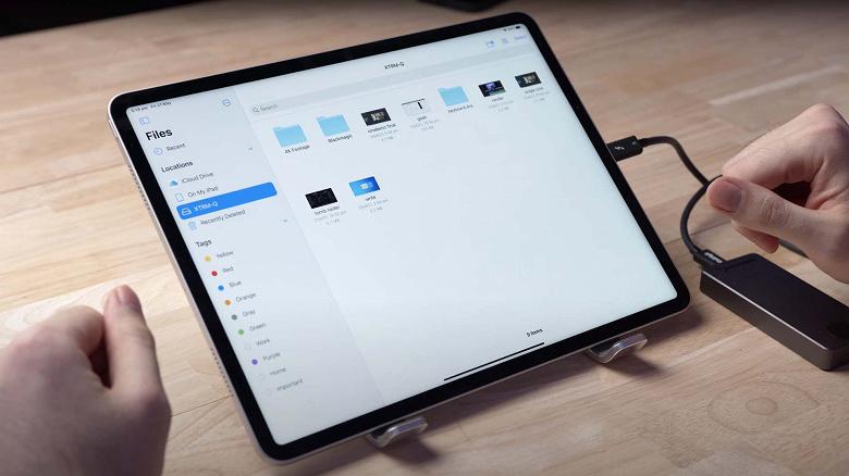 Новый iPad Pro в разы медленнее передаёт данные посредством Thuderbolt3, чем новый MacBook Pro