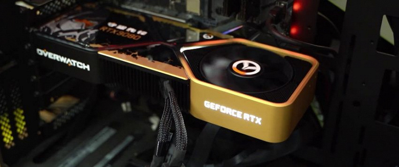 Nvidia показала необычную GeForce RTX 3080 – в стилистике Overwatch