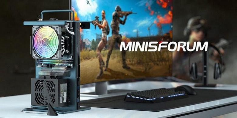 Необычный игровой мини-ПК в открытом корпусе и на компонентах AMD. Представлен Minisforum Game Mini