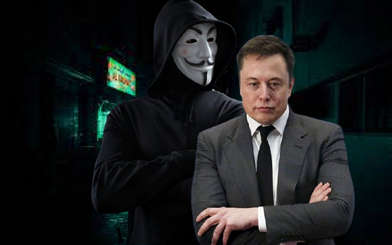 Илону Маску объявила войну знаменитая хакерская группа Anonymous