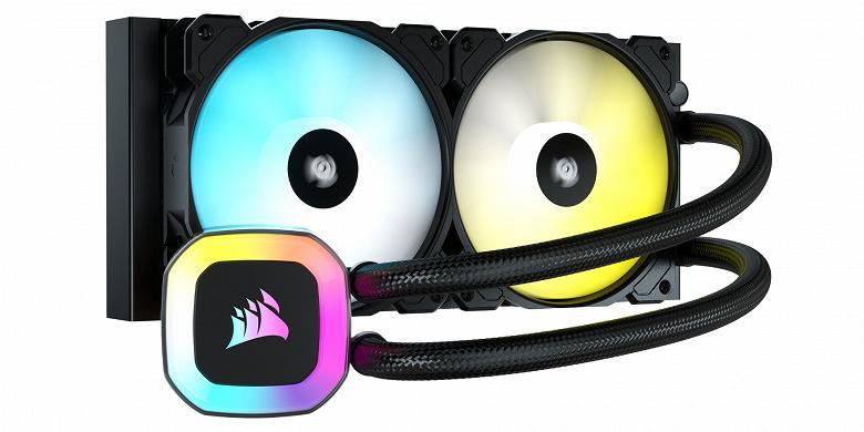 В системах жидкостного охлаждения Corsair H55 RGB, H100 RGB и H150 RGB используются вентиляторы Corsair SP120 RGB Elite