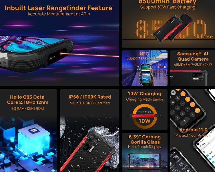 Первый в мире неубиваемый смартфон с 40-метровым лазерным дальномером Doogee S97 Pro стартует 21 июня по цене 200 долларов для первых покупателей