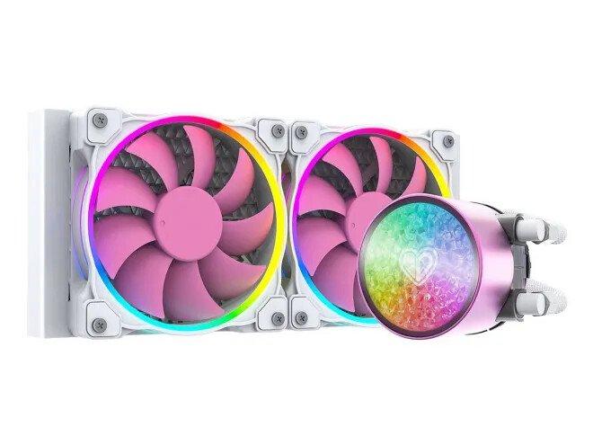 Для процессорной системы охлаждения ID-Cooling PinkFlow Diamond Edition выбрано сочетание белого и розового цветов