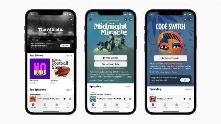 С опозданием на месяц: Apple запустила платные подписки для подкастов