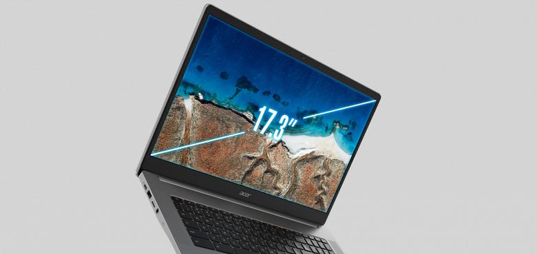 Первый в своём роде 17-дюймовый ноутбук. Acer Chromebook317 первым среди хромбуков получил столь большой экран