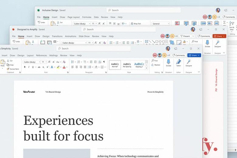 Microsoft Office получил новый дизайн и 64-битную версию для Arm-компьютеров с Windows 11