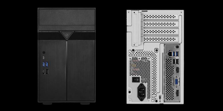 Компоненты концептуального компьютера ASRock DeskMini Max размещены в корпусе объёмом 10 л