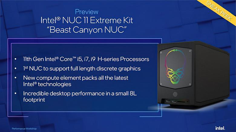 Неожиданные 10-нанометровые настольные процессоры Intel будут основой игрового мини-ПК NUC 11 Extreme