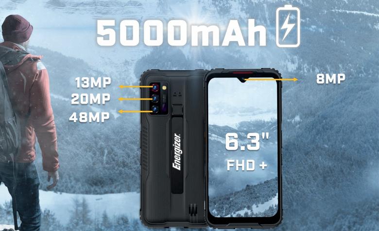 Представлен неубиваемый смартфон Energizer Hard Case G5 с камерой ночного видения и NFC