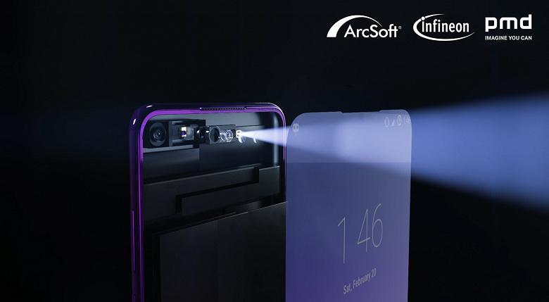 Infineon, pmdtechnologies и ArcSoft представили готовое решение, позволяющее спрятать времяпролетную камеру под поверхность экрана