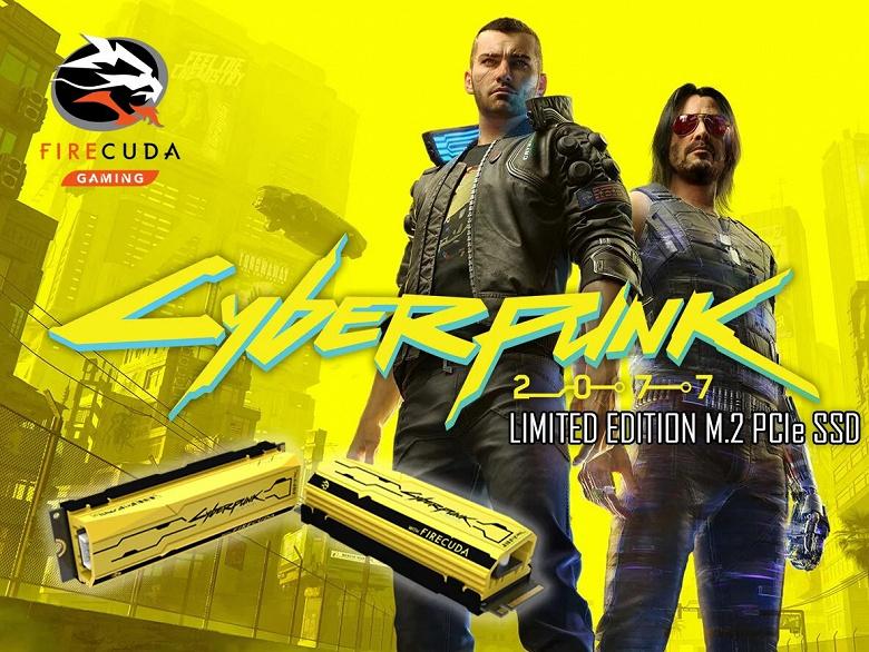 Компания Seagate представила SSD FireCuda 520, оформленный в стиле игры Cyberpunk 2077