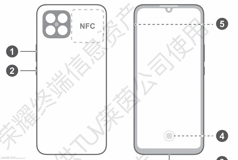 Honor 50 Lite с NFC и подэкранным сканером отпечатков пальцев показали на живых фото