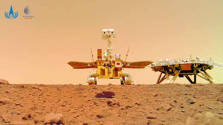 Первый китайский марсоход прислал впечатляющее групповое туристическое селфи с Красное планеты