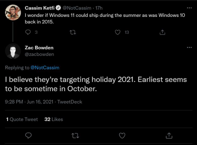 Несмотря на скорый анонс, пользователям придется подождать Windows 11