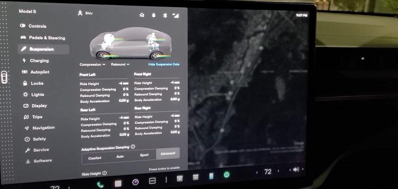 Первый взгляд на новый интерфейс информационно-развлекательной системы Tesla Model SPlaid