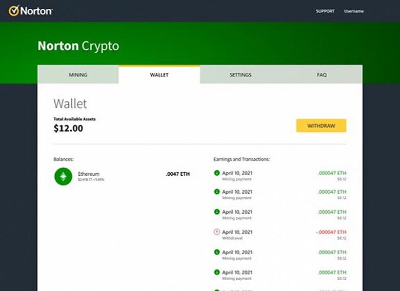 Антивирусник Norton 360 вскоре сможет добывать вам криптовалюту