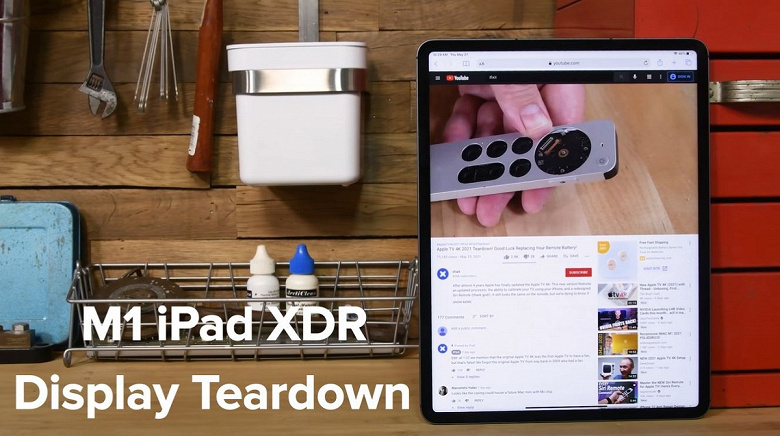 Разборка показала, как устроен дисплей Mini-LED планшета Apple iPadPro