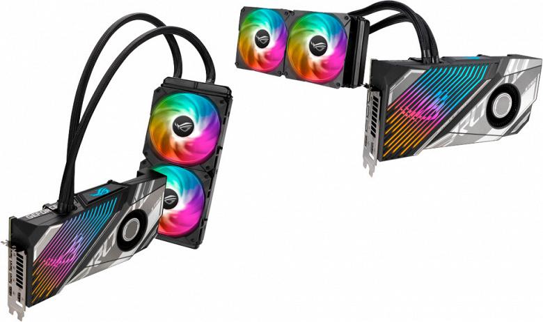 Представлены видеокарты Asus RTX 3080 Ti ROG Strix LC с гибридным охлаждением