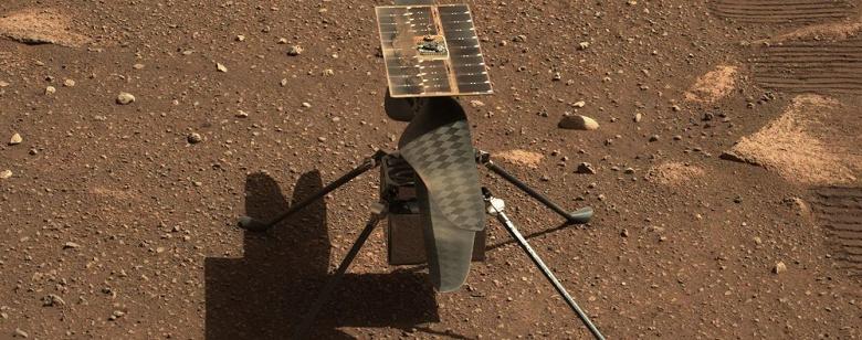 Вертолет Ingenuity совершил самый продолжительный полёт на Марсе