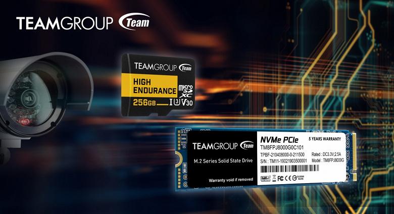 Компания TeamGroup представила твердотельный накопитель MP34Q и карту памяти High Endurance
