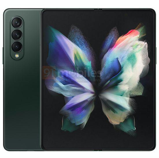 Первый в мире смартфон с гибким дисплеем и подэкранной камерой показали на качественных рендерах. Новые изображения Samsung Galaxy Z Fold 3