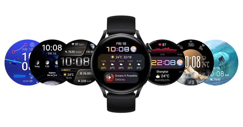HarmonyOS, temperature measurement, SpO2, GPS and eSIM support: sales of smart watches Huawei Watch 3 and Watch 3 Pro started in Russia