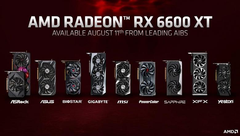 Представлена видеокарта Radeon RX 6600 XT. Она быстрее GeForce RTX 3060, но и немного дороже