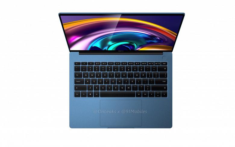 Первые ноутбук Realme показали со всех сторон в разных цветах