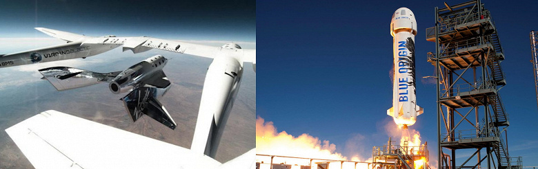 Space battle of billionaires.  Blue Origin does not recognize the upcoming flight of Richard Branson as comic