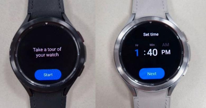 Включённые часы Samsung Galaxy Watch4 Classic показали вживую