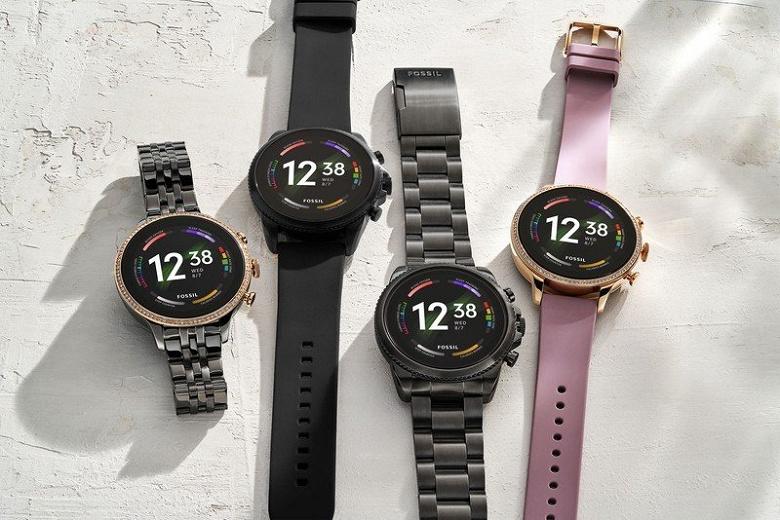 Экран AMOLED, GPS, NFC, поддержка звонков без смартфона, водозащита, датчики ЧСС и SpO2. Представлены умные часы Fossil Gen 6 на платформе Google Wear OS