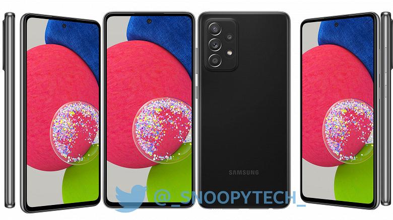 Так вот ты какой, самый мощный среднебюджетный смартфон Samsung. Первые рендеры Galaxy A52s