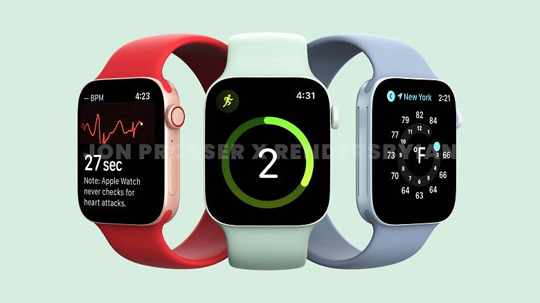 Массовое производство началось: ремешки «подросших» Apple Watch Series 7 на фото