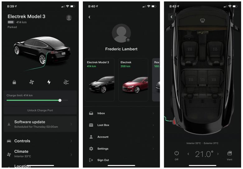 Большое обновление мобильного приложения Tesla: множество новых функций и переработанный интерфейс