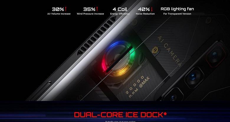 Snapdragon 888+, AMOLED, 165 Гц, 16 ГБ ОЗУ, 64 Мп, 5050 мА•ч и вентилятор. Геймерский RedMagic 6S Pro прибыл на международную арену