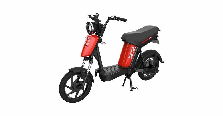 Представлен электрический скутер Detel Easy Plus с грузоподъемностью 170 кг и большим клиренсом