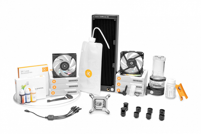 Комплект для сборки СЖО EK-Quantum Power Bundle Magnitude X360 D-RGB стоит от 744 евро