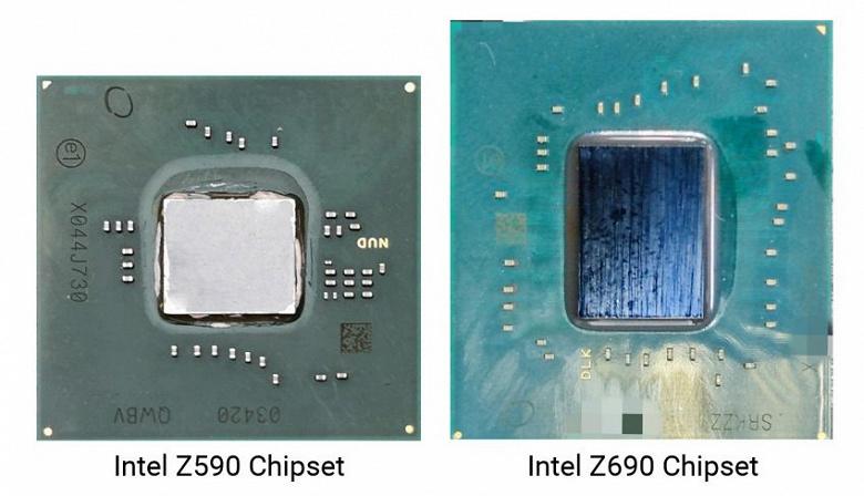 Прямоугольный и площадью больше, чем Intel Z590. Чипсет Intel Z690 запечатлели на фото – он похож по форме на процессоры Core 12 (Alder Lake)