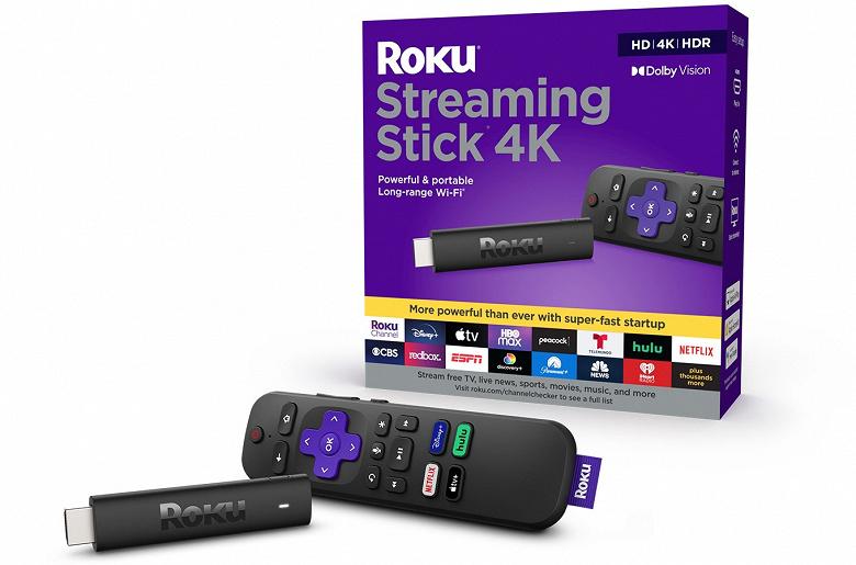 Представлены устройства Roku Streaming Stick 4K и Roku Streaming Stick 4K+