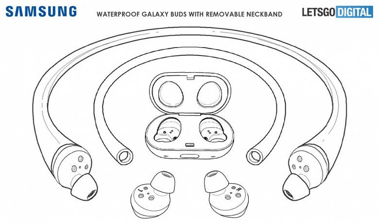 Samsung патентует гибрид проводных и беспроводных наушников, которые можно будет использовать в бассейне
