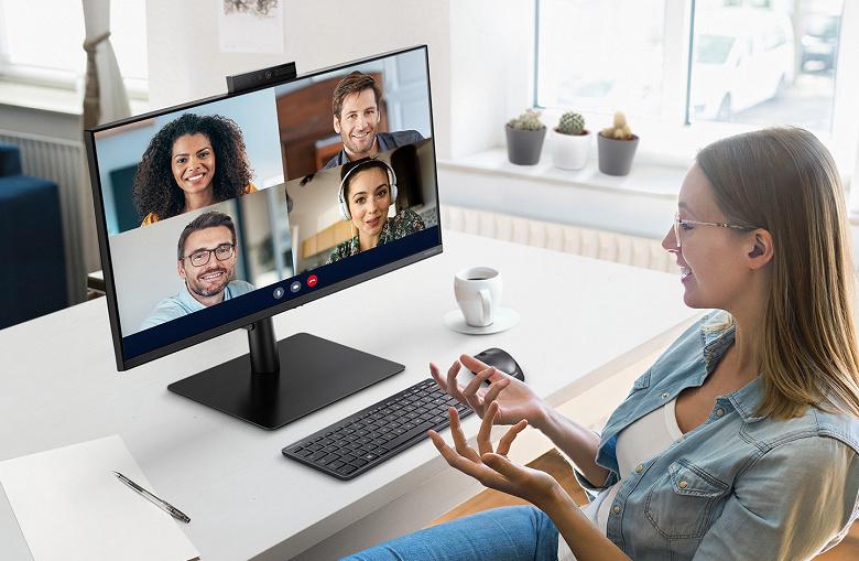 Samsung представила монитор с выдвижной веб-камерой