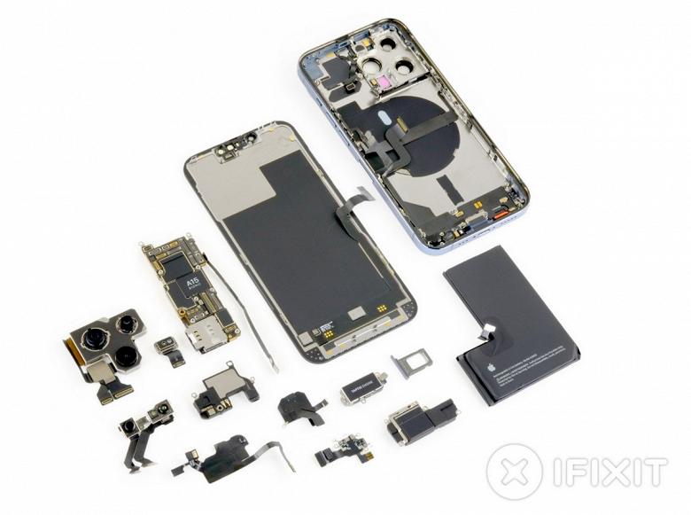 Теперь понятно, почему чёлка в iPhone 13 Pro стала меньше. Специалисты iFixit разобрали новинку и оценили её ремонтопригодность