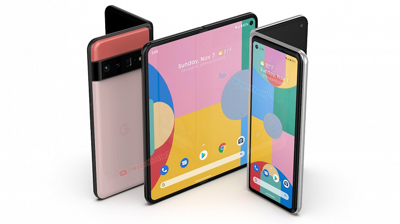This is what Google's first foldable smartphone with a flexible screen might look like.  Pixel Fold featured in huge renders and video