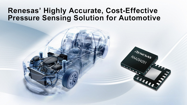 Renesas RAA2S425x – High-precision and cost-effective pressure measurement solutions for various vehicle systems