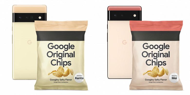 Оригинальные чипсы Google. Компания необычным образом решила прорекламировать свои грядущие смартфоны Pixel 6